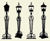 Candelabra Street Light Vector — Stock Vector