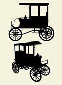 Victorian Cabs Carriage Vector — Stock Vector
