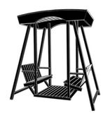 Wooden Swing Chair Vector — Stock Vector