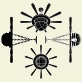 Luster Chandelier Look Like Helm Vector 01 — Stockvector