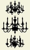 Luster Chandelier Vector 11 — Vetorial Stock