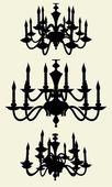 Vettore di lampadario lustro 11 — Vettoriale Stock