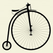 Penny-Farthing Bicycle Vector — Stock Vector
