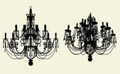 Luster Chandelier Vector — Vetorial Stock