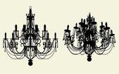 Vettore lampadario lustro — Vettoriale Stock