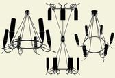 Luster Chandelier Vector 13 — Stockvektor