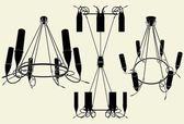 Lyster ljuskrona vektor 13 — Stockvektor