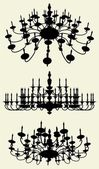 Luster Chandelier Vector — Stock Vector