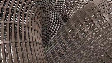 Continu ademhaling bouw structuur slang knoop 01 — Stockvideo
