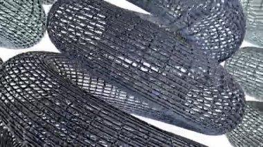 Continu spinnen lus bouw structuur helix 02 — Stockvideo