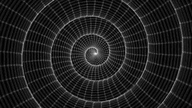 Hipnotic voortdurend draaiende kooi bouw 01 — Stockvideo
