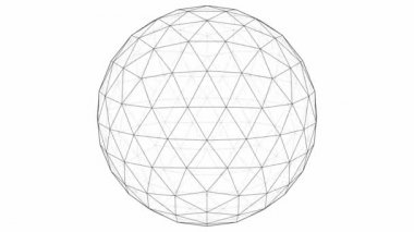 From Icosahedron To The Ball Sphere Lines Animation — Stock Video