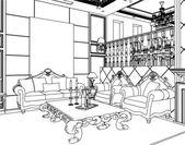 Living Room Vector 07 — Stock Vector