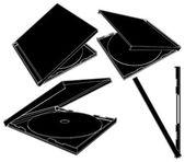 CD Case Vector 01 — Stock Vector