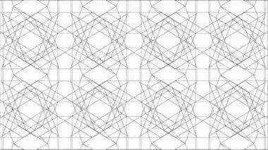 Spider Net Dancing Lines Kaleidoscope Animation — Stock Video