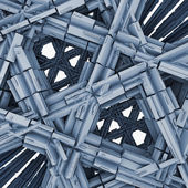 Abstract Blue Constructions — Stock Photo