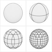 Cut Sphere From The Simple To The Complicated Vector — Stockvektor