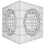 Cage Box Cube Vector — Stock Vector