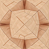 Abstract Textured Wooden Geometrical Tangram — Stock Photo