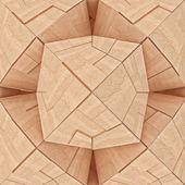 Tangram geometriche in legno con texture astratta — Foto Stock