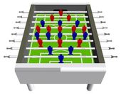 テーブル サッカー サッカー ゲーム視点ベクトル — ストックベクタ