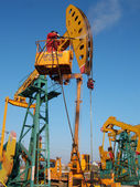 China daqing oil field, — Stock Photo