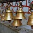 Stock Photo: Temple bells, nepal