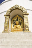 Buddha from the world peace pagoda, nepal, pokhara — Stock Photo