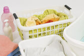 Wash colored laundry — Stock Photo