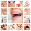 Dental care collage (dental services) — Stock Photo