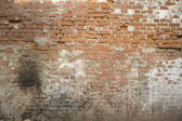 Old brick wall: Texture of vintage brickwork - brown brick — ストック写真