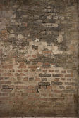 Old brick wall: Texture of vintage brickwork - brown brick — Stock fotografie