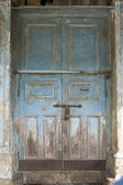 The Old Door with Cracked Paint Background — Stock Photo