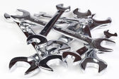 Many wrenches isolated on white background. — Stock Photo