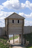 Wooden watchtower — Stock Photo
