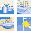 House Cleaning icons — Stock Vector
