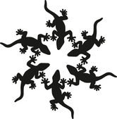 Lizards silhouette — Stock Vector
