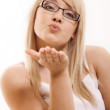 Woman gesturing — Stock Photo