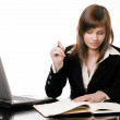 Businesswoman working with computer — Stock Photo #23500379