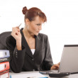 Businesswoman in the office — Stock Photo