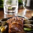 Pork loin with mushroom sauce - Foto de Stock