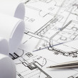 Architecture blueprints — Stockfoto