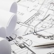 Stock Photo: Architecture blueprints