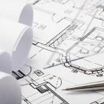 Progetti di architettura — Foto Stock