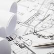 Architecture blueprints — Stock Photo