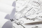 Architecture blueprints — Stock Photo