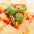 Shrimp with rice. Selective focus — Stock Photo
