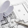 Architecture blueprints. — Stockfoto