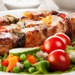 Stock Photo: Grilled shashlik with vegetables