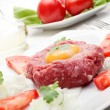 Stock Photo: Steak Tartare. Selective focus